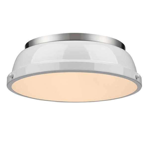 "Golden Lighting Duncan Flush Mount Ligth - 14"" - Pewter"