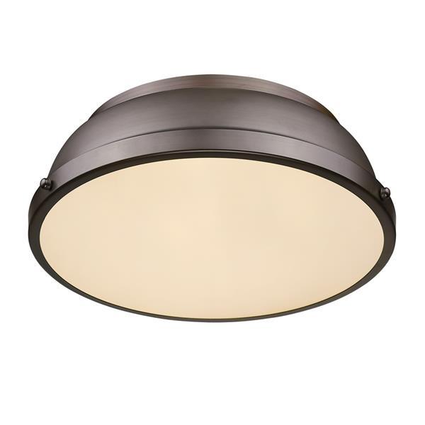 Golden Lighting Duncan Flush Mount Light - Rubbed Bronze