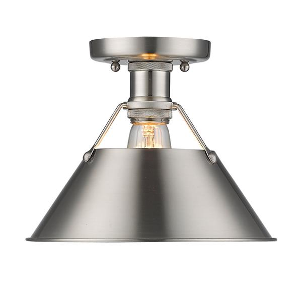 Golden Lighting Orwell PW Flush Mount Light - Pewter