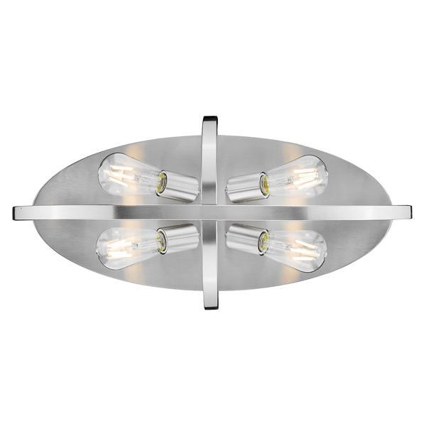 """Golden Lighting Colson Flush Mount Light - 24""""- Pewter"""