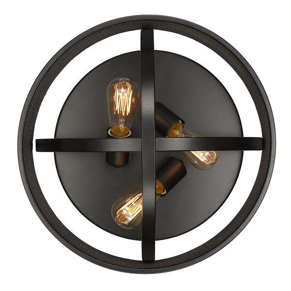 Golden Lighting Colson Flush Mount Light - Bronze