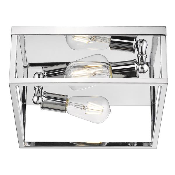 Golden Lighting Wesson Flush Mount Light - Chrome
