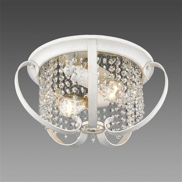Golden Lighting Ella Flush Mount Light - French White