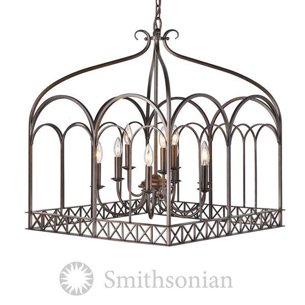 Golden Lighting SmithsonianGateway 9-Light Chandelier - 60 - Fired Bronze