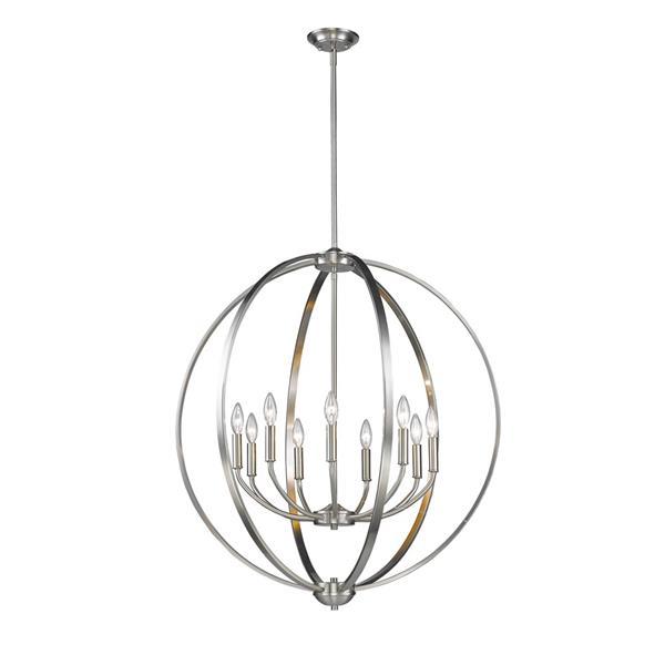 Golden Lighting Colson 9-Light Chandelier - 60W - Pewter