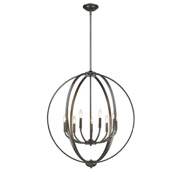 Golden Lighting Colson 9-Light Chandelier - 60W - Etruscan Bronze