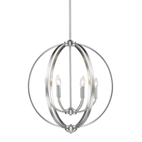 Golden Lighting Colson 6-Light Chandelier - 60W - Pewter