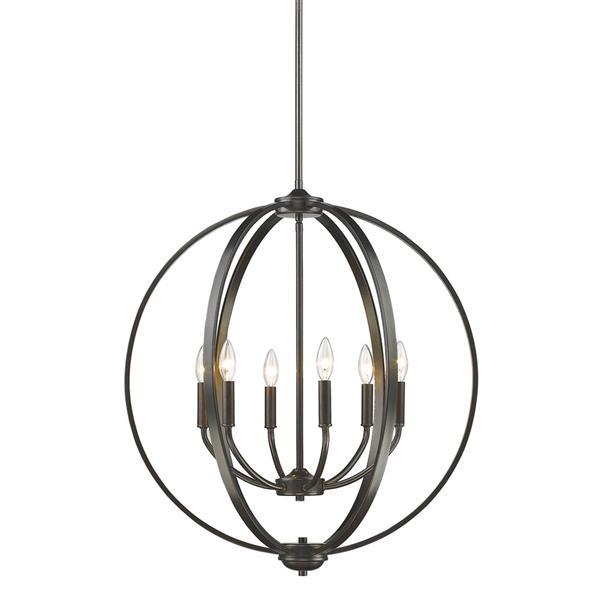 Golden Lighting Colson 6-Light Chandelier - 60W -  Etruscan Bronze