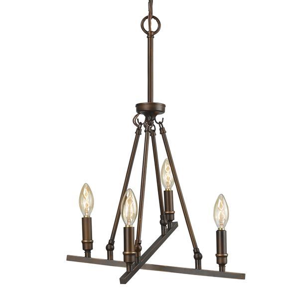 Golden Lighting Garvin 4-Light Chandelier - 60W - Rubbed Bronze
