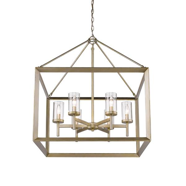 Golden Lighting Smyth 6 -Light Chandelier - 60W - White Gold
