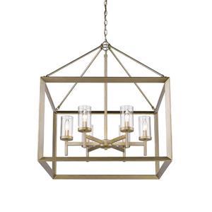Golden Lighting Smyth 6 -Light Chandelier - 60W - White Gold