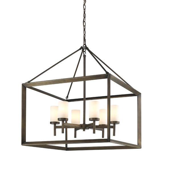 Golden Lighting Smyth 6 -Light Chandelier - 60W - Gunmetal Bronze