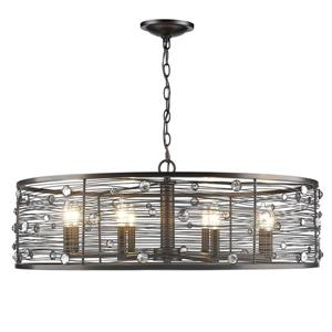 Bijoux 8 -Light Chandelier - 60W -  Brushed Etruscan Bronze