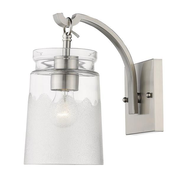 Golden Lighting Travers PW 1-Light Wall Sconce in Pewter