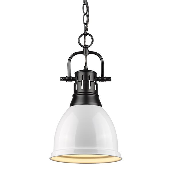 Golden Lighting Duncan Small Pendant Light with Chain - Black