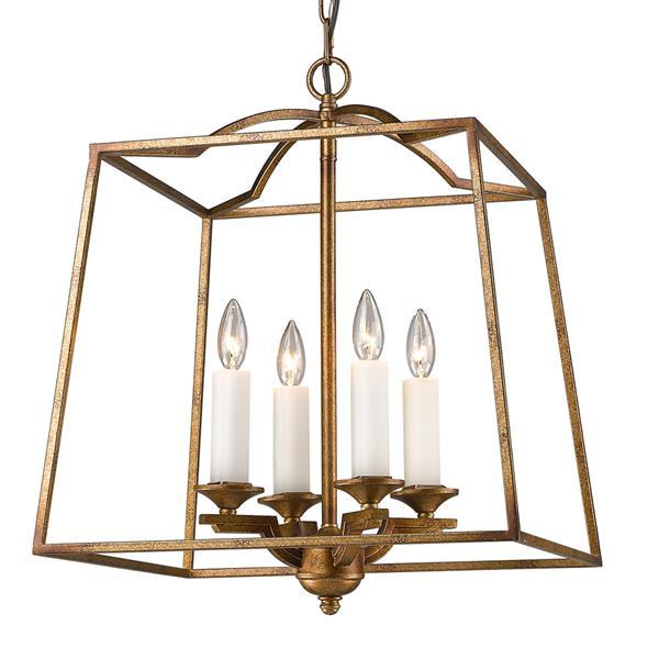 Golden Lighting Athena 4 Light Pendant Light - Grecian Gold