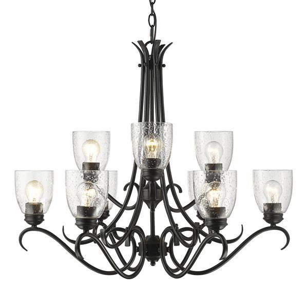 Golden Lighting Parrish 9-Light Chandelier - 60W - Black