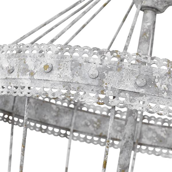 Golden Lighting Ferris 3-Light Chandelier - 60W - Oyster