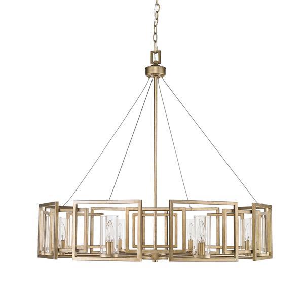 Golden Lighting Marco 8-Light Chandelier - 60W - White Gold