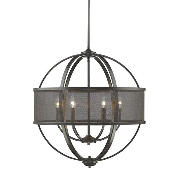 Golden Lighting Colson 6-Light Chandelier with Shade - 60W - Etruscan Bronze