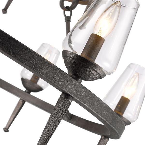 Golden Lighting Marcellis 9-Light Chandelier - 60W - Dark Iron