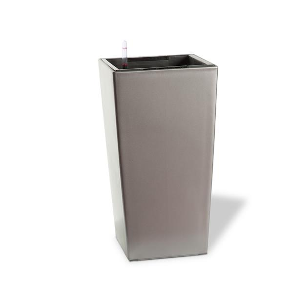 "Algreen Products Modena Planter with Watering Tray - 16"" - Matte Granite"