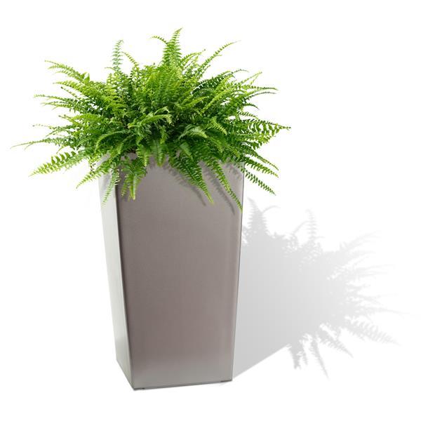 """Algreen Products Modena Square Planter - 22"""" - Plastic - Matte Granite"""