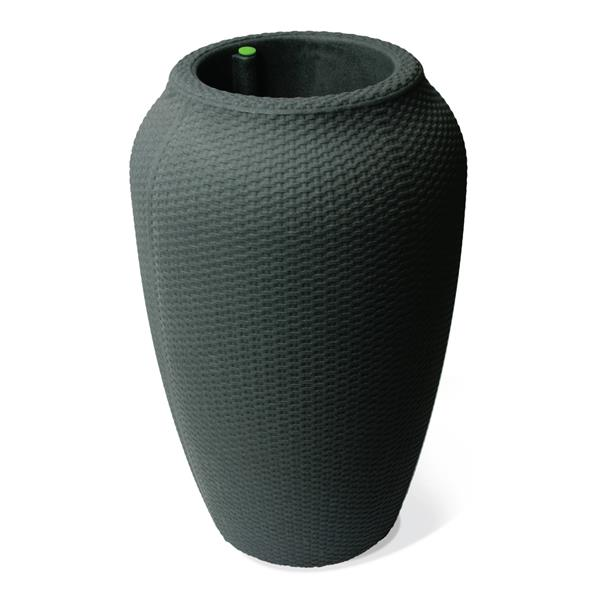"""Algreen Products Wicker Self-Watering Planter - 32"""" x 20"""" - Charcoal"""