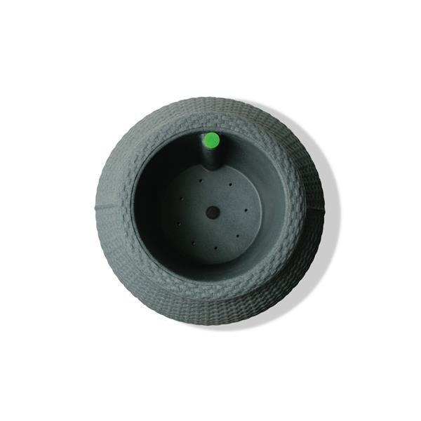 """Algreen Products Wicker Self-Watering Planter - 28"""" x 17.5"""" - Charcoal"""