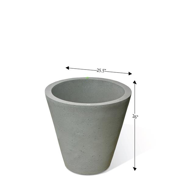 """Algreen Products Crete Self-Watering Planter - 26.5"""" x 26"""" - Taupe"""