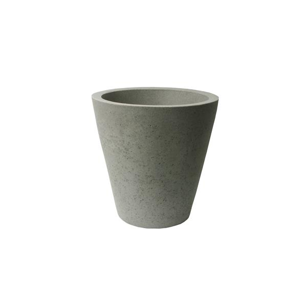 "Algreen Products Crete Self-Watering Planter - 20.5"" x 20"" - Taupe"