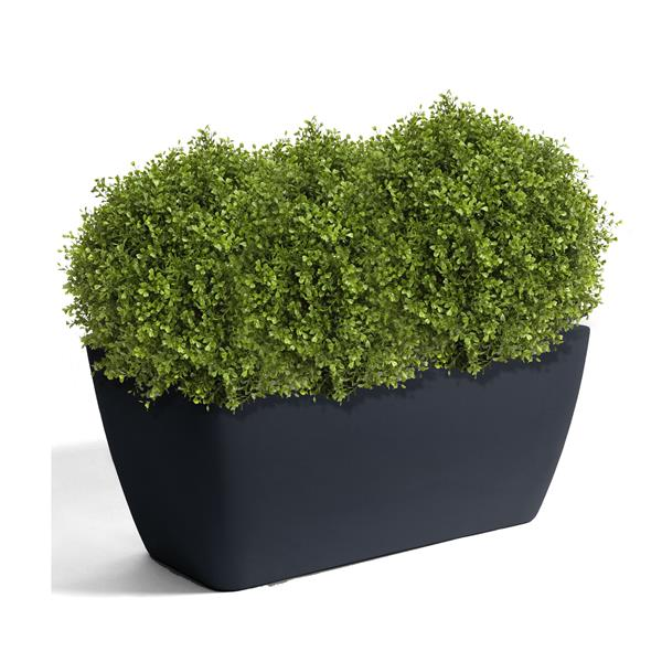 "Algreen Products Manhattan Planter - 40"" x 18"" - Plastic - Charcoal"