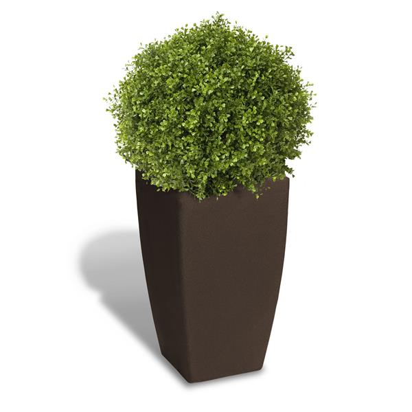 "Algreen Products Madison Planter - 20"" x 35"" - Plastic - Brown"