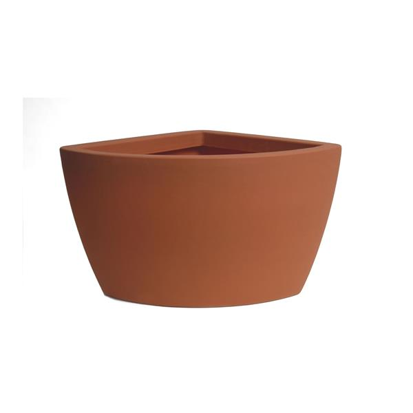 "Algreen Products Balcony Planter - 26"" x 20"" - Plastic - Terracotta"