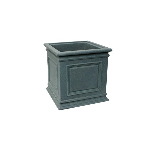 "Algreen Products Covington Self-Watering Planter - 20"" x 20"" - Charcoal"