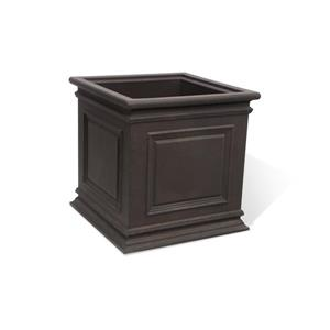 "Algreen Products Covington Self-Watering Planter - 20"" x 20"" - Brown"