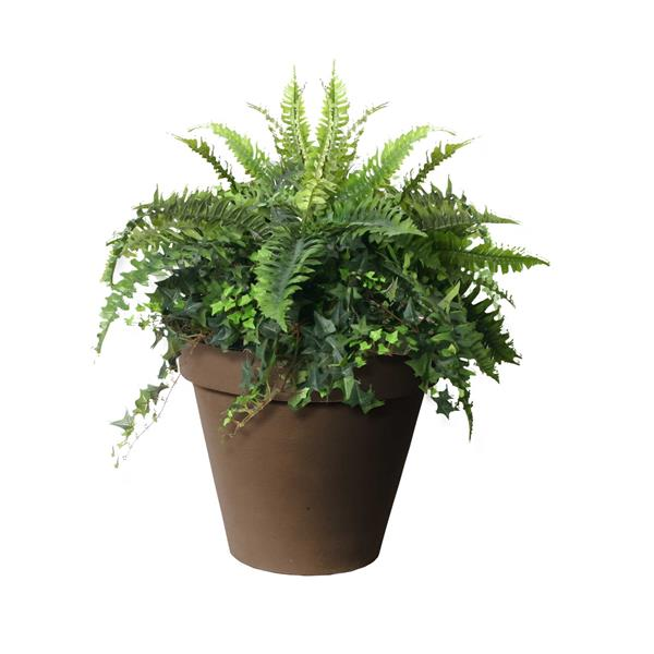 """Algreen Products Classico Self-Watering Planter - 20"""" x 16.5"""" - Brown"""