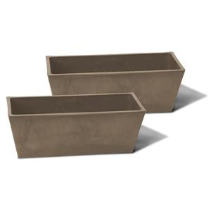 "Algreen Products Valencia Windowsill Planters - 14"" x 5.5"" - Taupe - 2 pcs"