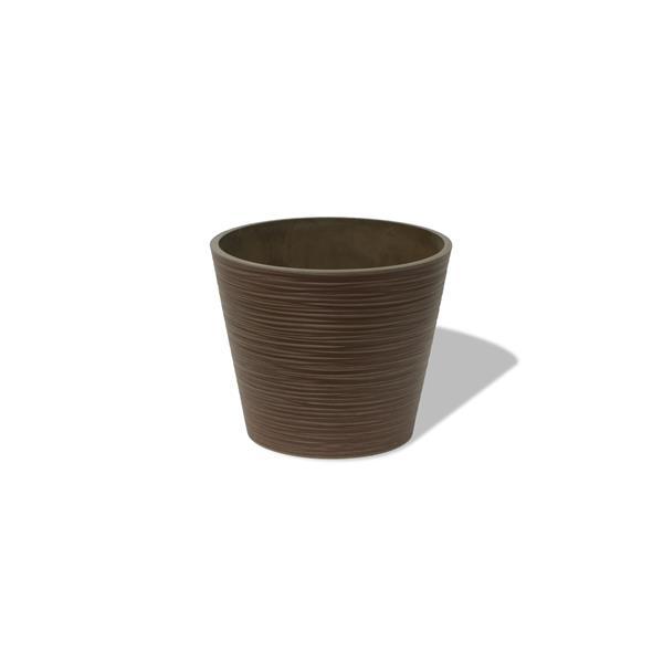 "Algreen Products Valencia Round Planter - 12.2"" x 10"" - Composite - Cedar"