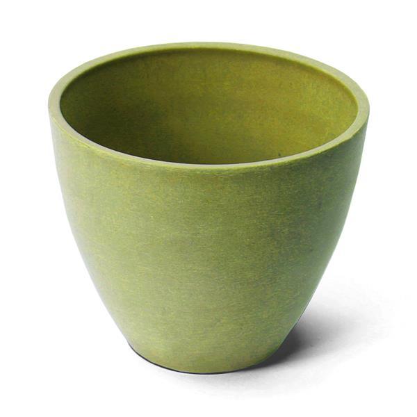 "Jardinière ronde Valencia, 10"" x 8,3"", composite, vert"