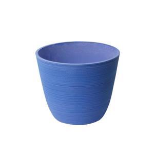 "Jardinière ronde Valencia, 14"" x 11"", bleu"