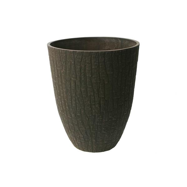 "Algreen Products Valencia Planter - 15.5"" x 18"" - Composite - Brown"
