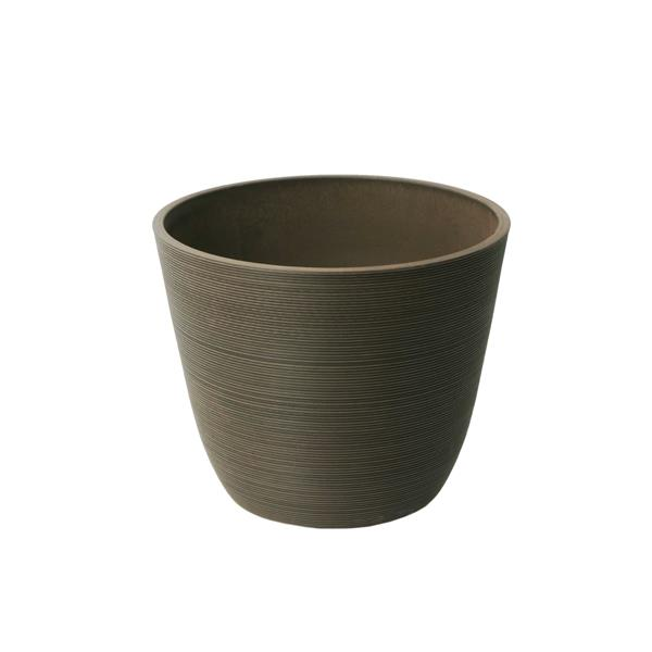 "Algreen Products Valencia Round Planter - 11"" x 14"" - Composite - Chocolate"