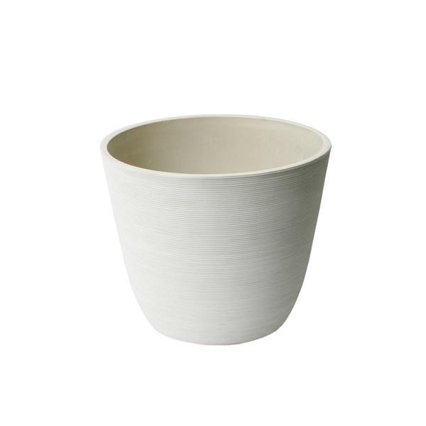 "Algreen Products Valencia Round Planter - 11"" x 14"" - Composite - White"