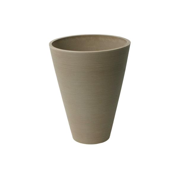"Algreen Products Valencia Round Planter - 11"" x 14"" - Composite -Taupe"