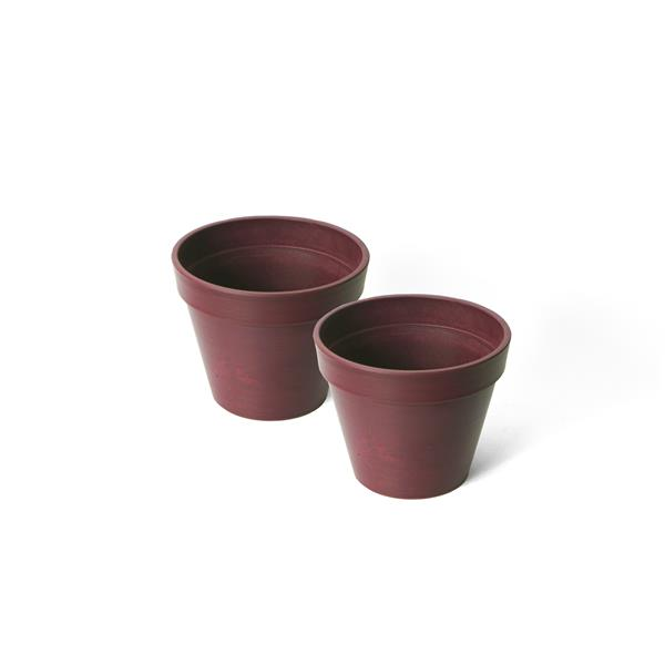 "Algreen Products Valencia Round Planters - 10"" x 8"" - Purple - 2 pcs"