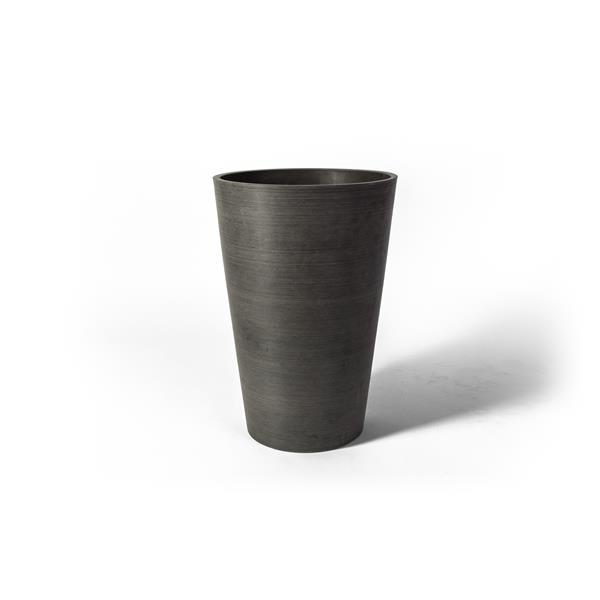 """Algreen Products Valencia Round Planter with shelf - 16"""" x 24"""" - Charcoal"""