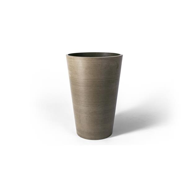 """Algreen Products Valencia Round Planter with shelf - 16"""" x 24"""" - Taupe"""