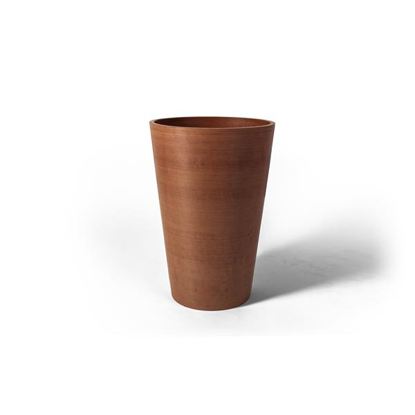 "Algreen Products Valencia Planter with shelf - 16"" x 24"" - Terracotta"