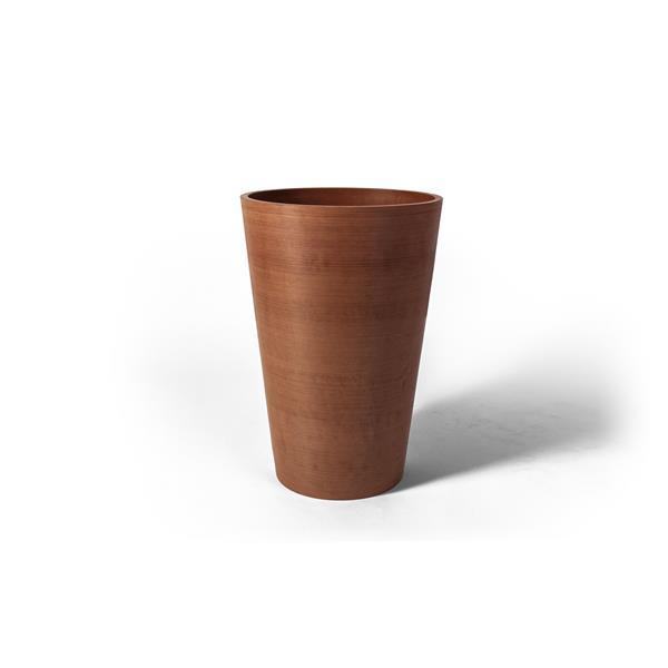 "Algreen Products Valencia Round Planter - 12"" x 18"" - Terracotta"